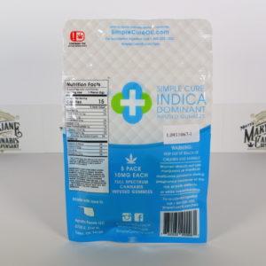 Simple Cure 3:1 Indica Gummies (30mgCBD/10mgTHC)